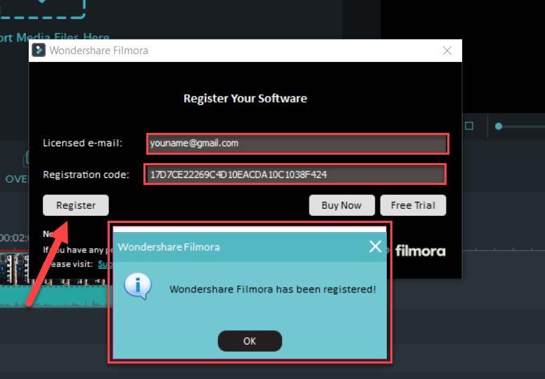 wondershare email and registration code 2018