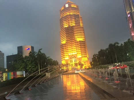 Menara Public Bank at night